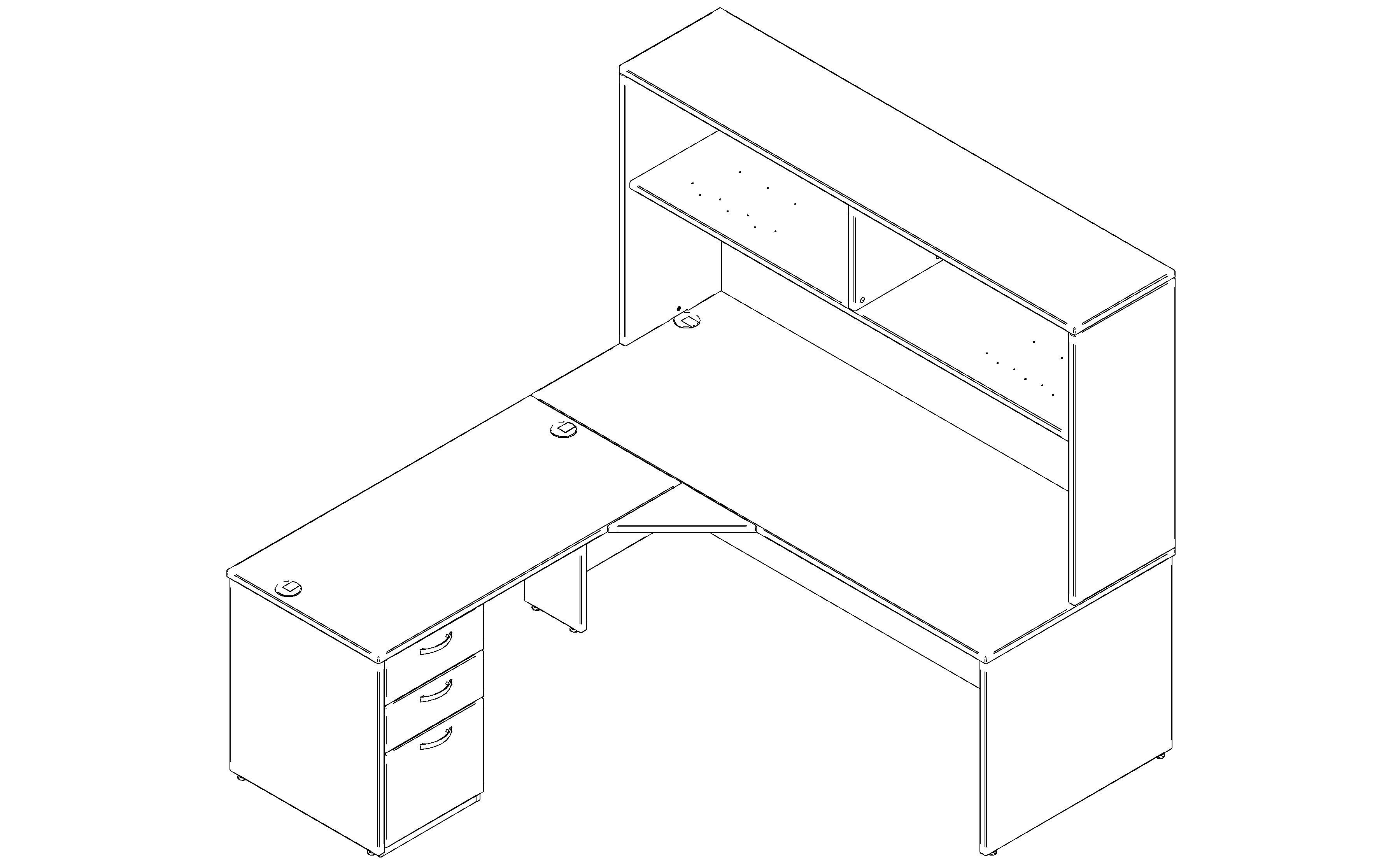 Configuration gamme de meubles de bureaux Prism / Mobilier Corporatif Poitras